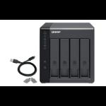 """QNAP TR-004/64TB-IW storage drive enclosure 2.5/3.5"""" HDD/SSD enclosure Black"""