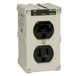 Tripp Lite IBLOK2-0 surge protector 2 AC outlet(s) 120 V Black,Grey