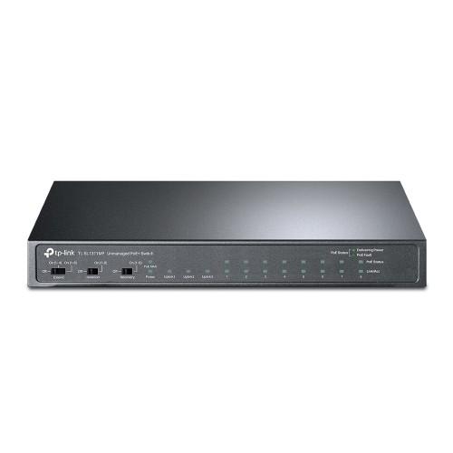 TP-LINK 8-Port 10/100Mbps + 3-Port Gigabit Desktop Switch with 8-Port PoE+