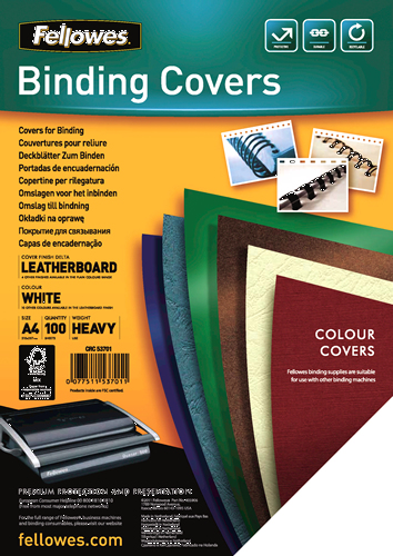 Fellowes Delta A4 A4 Paper White 100pc(s) binding cover