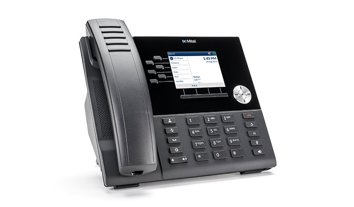 Mitel MiVoice 6920 Black Wired handset LCD IP phone
