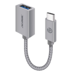 ALOGIC 15cm USB 3.1 USB-C (Male) to USB-A (Female) Adapter - Space Grey Aluminium