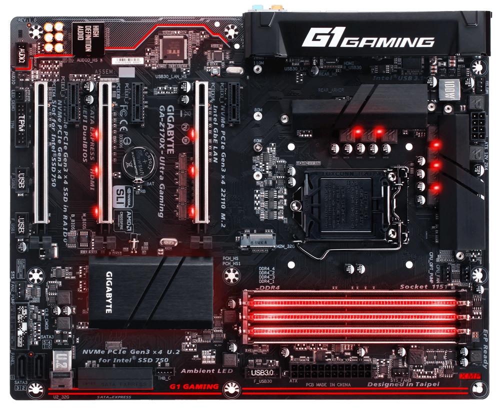 Gigabyte GA-Z170X-Ultra Gaming Intel Z170 LGA1151 ATX