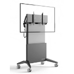 "Salamander FPS1/EL/GG/EX 65"" Portable flat panel floor stand Graphite, Grey flat panel floorstand"