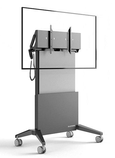 "Salamander FPS1/EL/GG/EX 65"" Portable flat panel floor stand Graphite, Grey flat panel floorstand"