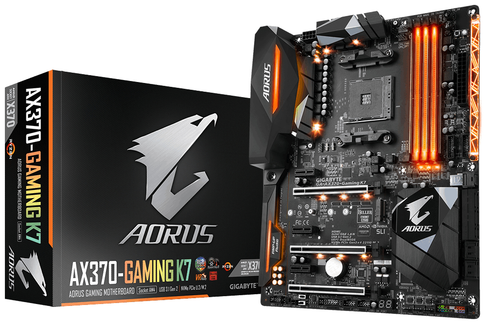 Gigabyte GA-AX370-GAMING-K7 AMD X370 Socket AM4 ATX motherboard