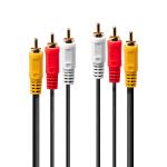 Lindy 35697 composite video cable 20 m 3 x RCA Black