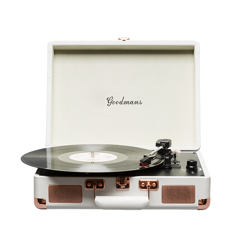 Goodmans GDPTURNT01CRMXI Belt-drive audio turntable White audio turntable