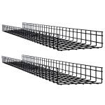 Tripp Lite SRWB12410X2STR cable tray Straight cable tray Black