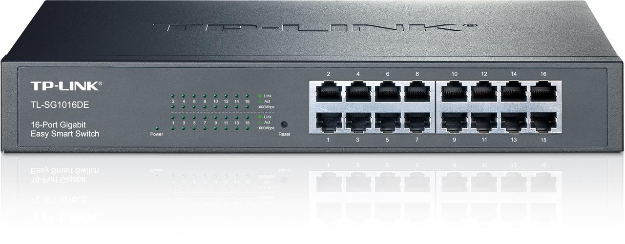 TP-LINK TL-SG1016DE Managed network switch L2 Gigabit Ethernet (10/100/1000) Black network switch