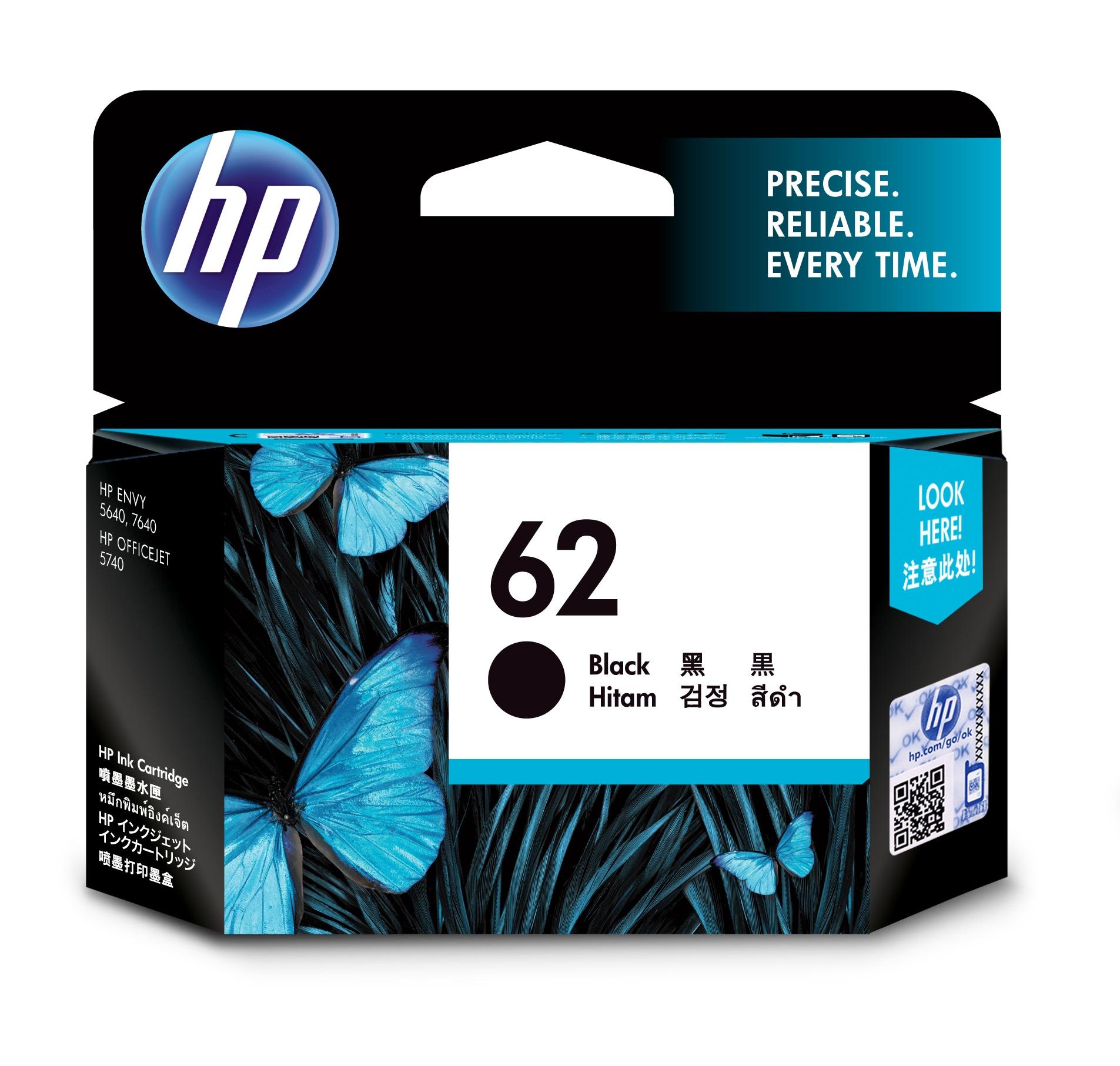 HP 62 Original Negro