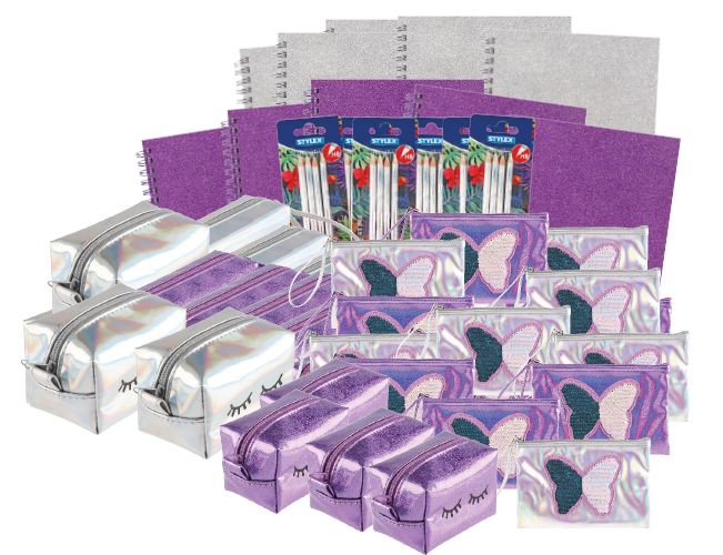 STYLEX BUNDLE TIME TO SHINE STYLEX 9 SKUS WITH CDU SILVER / PURPLE PK57 ( EACH )