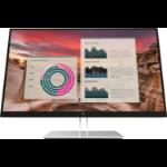 "HP E27u G4 27"" 2560 x 1440 pixels Quad HD Black, Silver"
