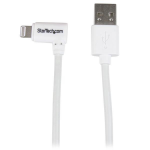 StarTech.com 1 m (3 ft.) USB to Lightning Cable - Right Angle iPhone / iPad / iPod Charger Cable - 90 Degree Lightning to USB Cable - Apple MFi Certified - White