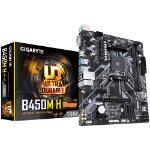 Gigabyte B450M H AMD Ryzen AM4 mATX Motherboard 2xDDR4 2xPCIe HDMI 1xM,2 4xSATA RAID GbE LAN 2xUSB3.1 6xUSB2.