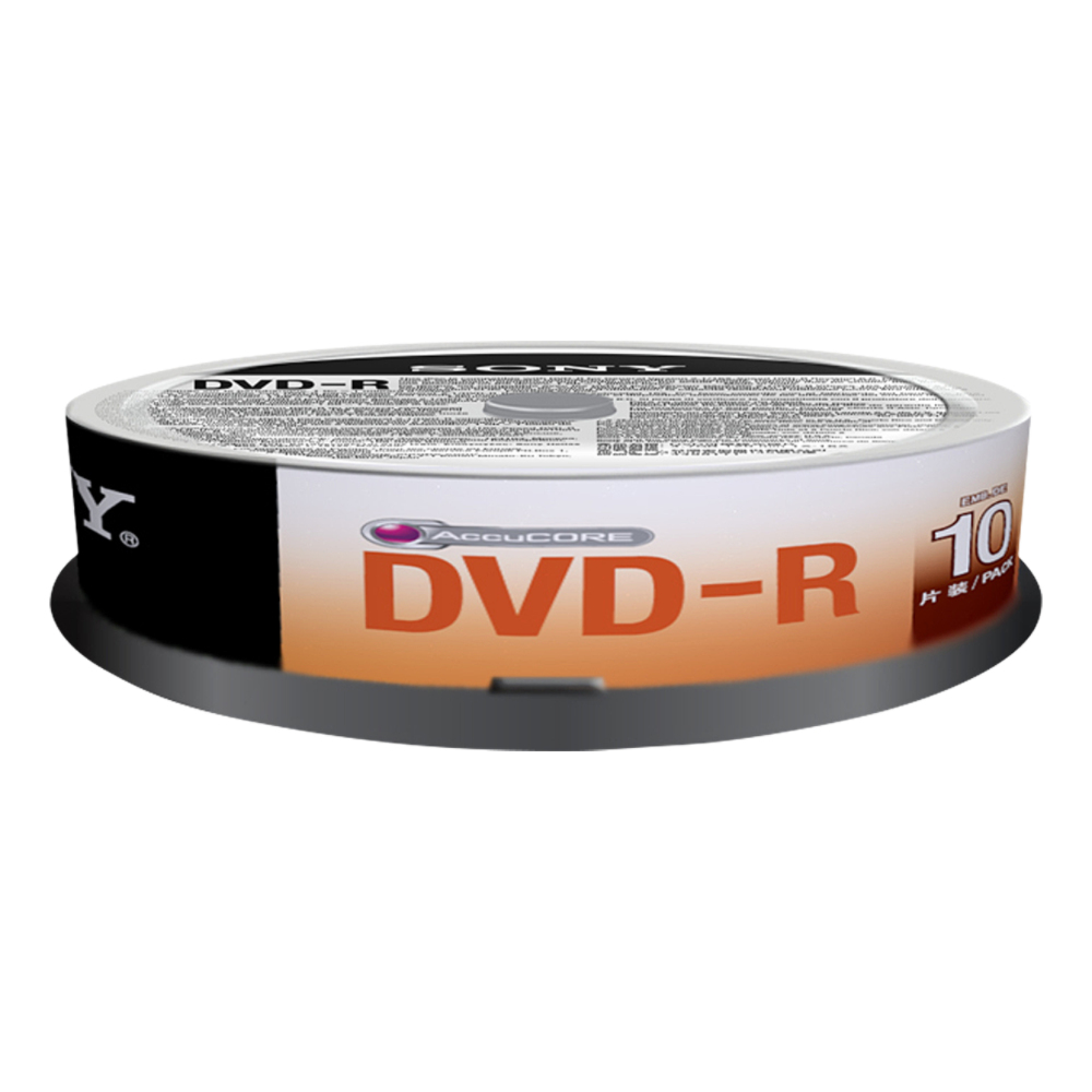 SONY DVD-R 16X SPINDLE 10 PCS INKJET PRINTA