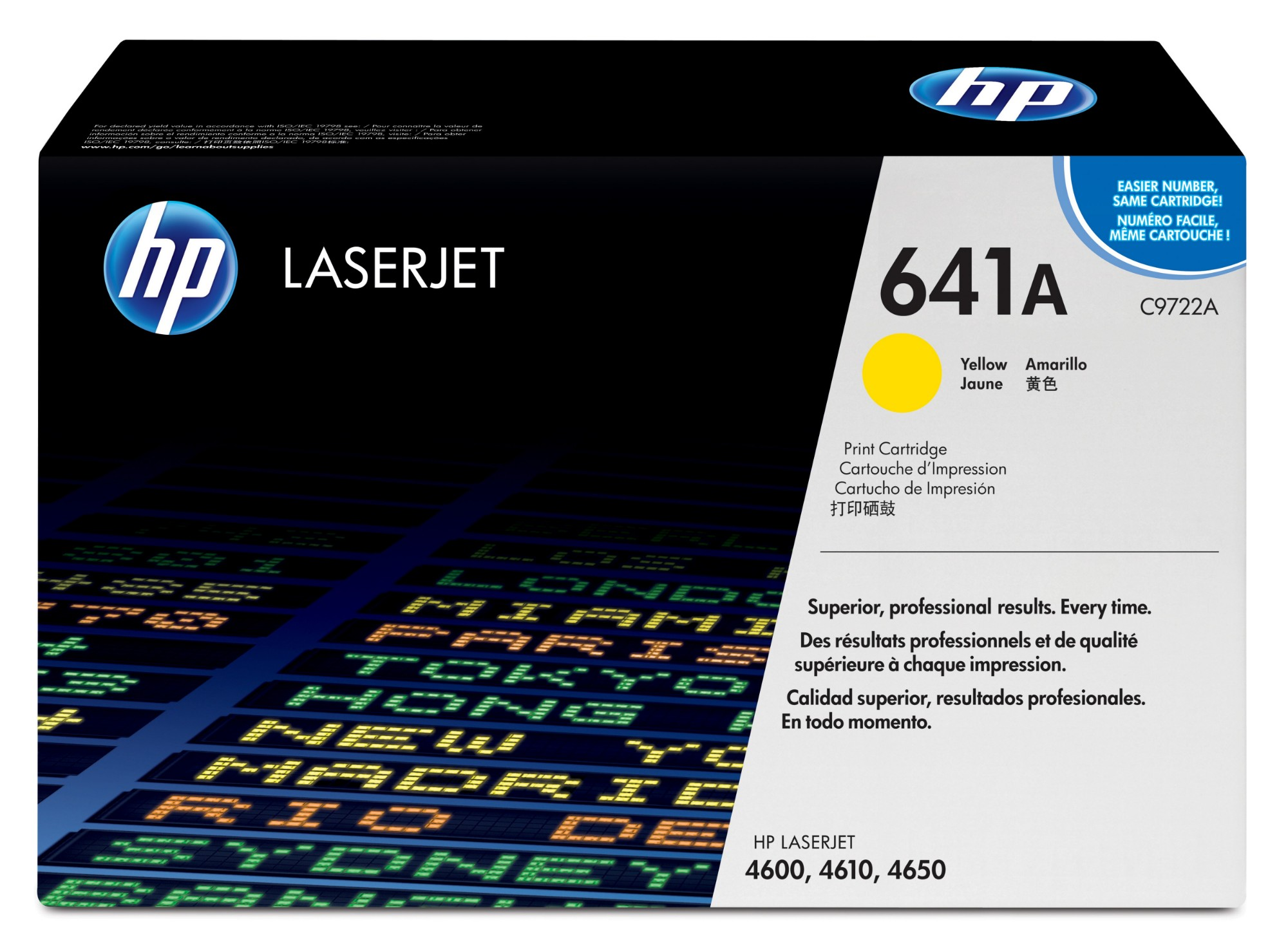 HP C9722A (641A) Toner yellow, 8K pages @ 5% coverage