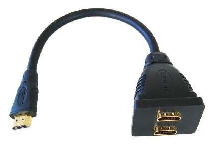 Cables Direct HDMI High Speed w/ Ethernet, 15cm Cable splitter Black
