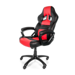 Arozzi Black & Red Monza Adjustable Ergonomic Motorsports Inspired Desk Chair