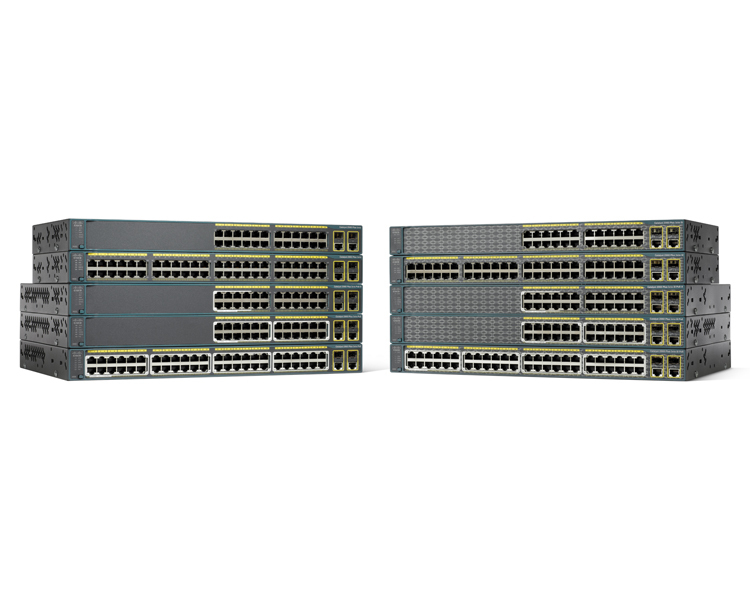 Cisco Catalyst WS-C2960+24LC-S switch Gestionado L2 Fast Ethernet (10/100) Negro Energía sobre Ethernet (PoE)