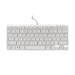 R-Go Tools R-Go Compact Keyboard, QWERTY (IT), white, wired