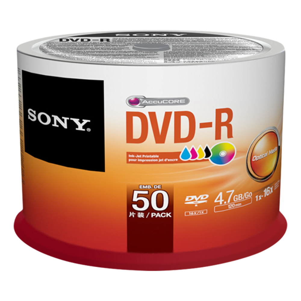 DVD-r Media 4.7GB 50pk Itc
