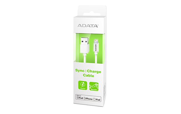 Lightning & Sync Cable White For Ipod, iPhone, iPad