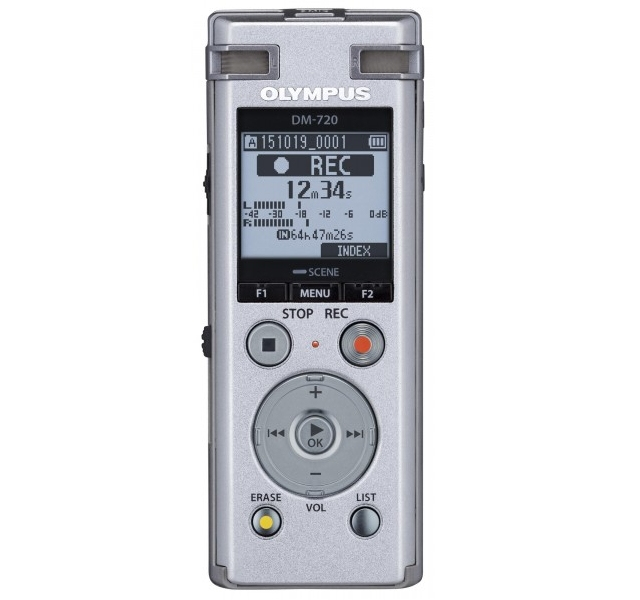 Olympus DM-720 + DNS12 Internal memory Silver dictaphone