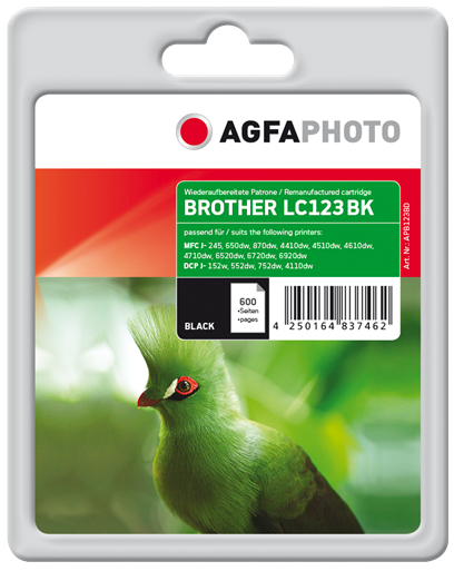 AgfaPhoto APB123BD 600pages Black ink cartridge