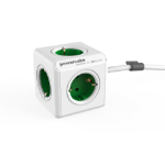 Allocacoc PowerCube Extended base múltiple 1,5 m 5 salidas AC Interior Verde, Blanco
