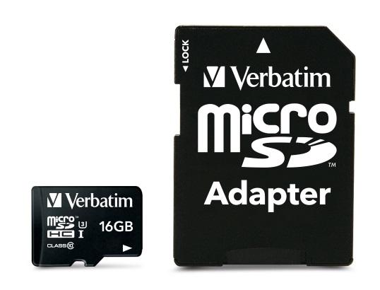 Verbatim Pro 16GB MicroSDHC UHS Class 10 memory card