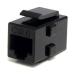 StarTech.com Caja de Empalme Acoplador Keystone Cable Cat5 Ethernet UTP - 2x Hembra RJ45 - Negro