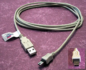 Cables Direct 2m USB cable USB A USB B Grey