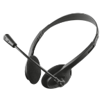 Trust ZIVA CHAT HEADSET Binaural Diadema Negro auricular con micrófono