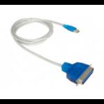 Hypertec 151040 printer cable 1.8 m Blue, Silver