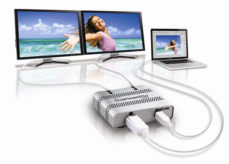 Matrox DualHead2Go Digital ME DisplayPort 2x DVI-D