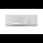 Cherry Strait USB QWERTZ German Silver,White keyboard