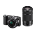 Sony ?5000Y Camera with APS-C Sensor 16-50 mm and 55-210 mm zoom lens