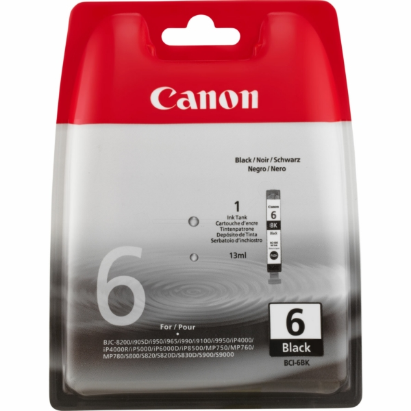 Canon 4705A002 (BCI-6 BK) Ink cartridge black, 210 pages, 13ml