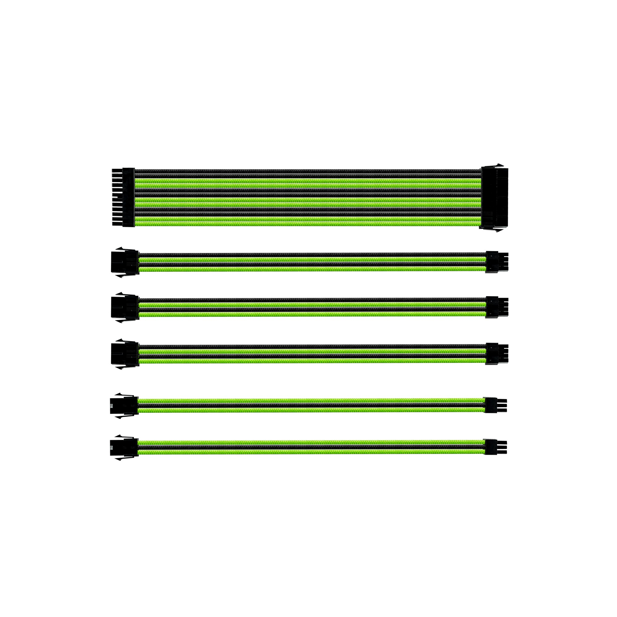 Extension Cable Kit - Sleeved - Black / Green