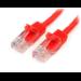 StarTech.com Cable de 3m Rojo de Red Fast Ethernet Cat5e RJ45 sin Enganche - Cable Patch Snagless
