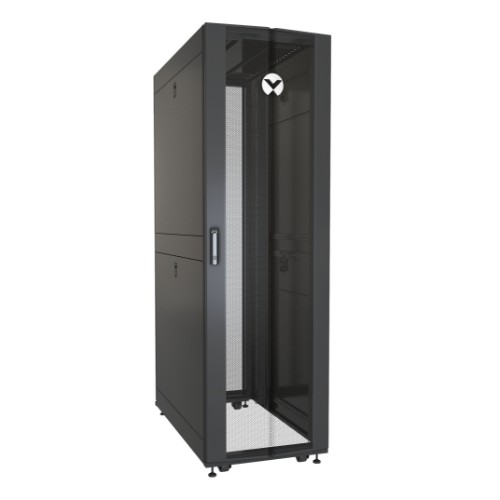 Vertiv VR Rack VR3100 rack cabinet 42U Freestanding rack Black, Transparent