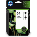HP 64 ink cartridge 2 pc(s) Original Standard Yield Black