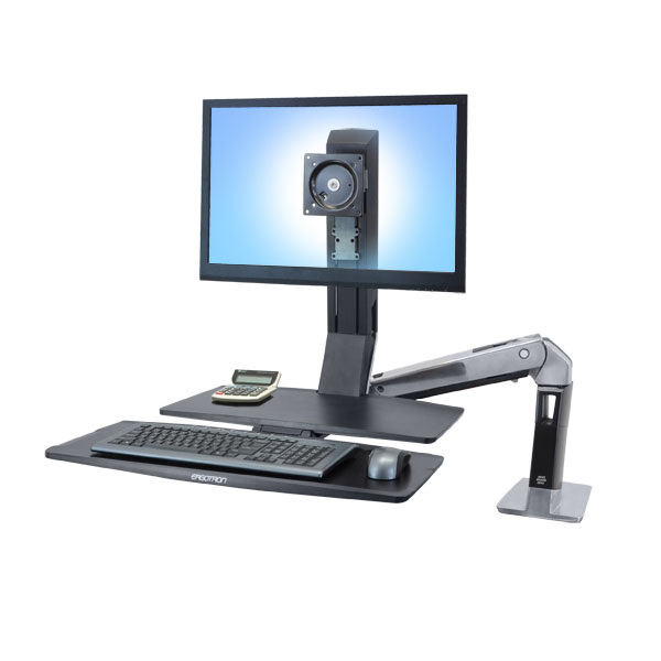Ergotron WorkFit WorkFit-A, Single HD @ Worksurface+