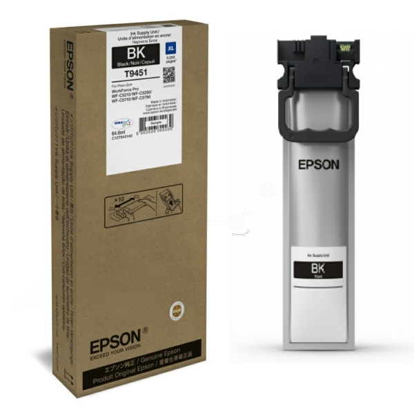 Epson C13T945140 (T9451) Ink cartridge black, 5K pages, 65ml