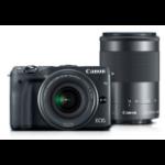 Canon EOS M3 + EF-M 18-55mm IS STM + EF-M 55-200mm STM MILC 24.2MP CMOS 6000 x 4000pixels Black
