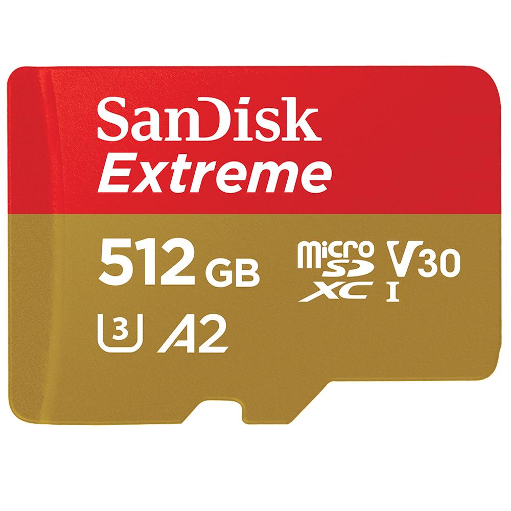 Sandisk Extreme memoria flash 512 GB MicroSDXC Clase 10 UHS-I