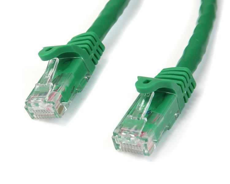 StarTech.com Cable de 3m Verde de Red Gigabit Cat6 Ethernet RJ45 sin Enganche - Snagless