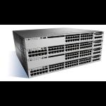 Cisco Catalyst WS-C3850-24XU-L Managed 10G Ethernet (100/1000/10000) Black, Grey network switch