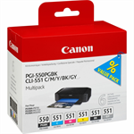 Canon 6496B005 (PGI-550 CLI 551) Ink cartridge multi pack, 7ml, Pack qty 6